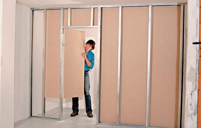 Межкомнатные перегородки с дверьми своими руками