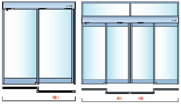 Размеры стеклянных раздвижных перегородок
