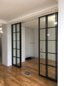 стеклянные межкомнатные раздвижные двери