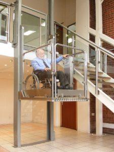 Подъемник для инвалидов вертикальный внутренний
